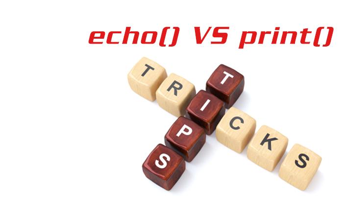echo() VS print()