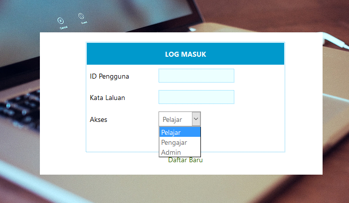 Login Berbilang Akses Level
